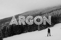 Ad: Argon Font (Full) by TomAnders on 2017 Update: Fixed some render issues with the numbers. --- Argon is a unique typeface with a sporty, modern, adventurous edge. Design Typography, Typography Fonts, Logo Design, Typeface Font, Hand Lettering, Free Typeface, Font Free, Creative Typography, Creative Fonts