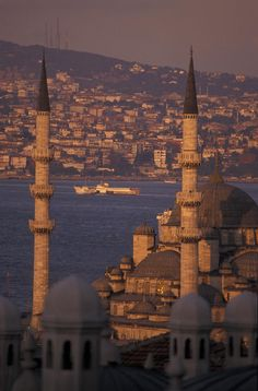 ✮ View of the Golden Horn and Asia from the Sulemaniye Mosque complex - Istanbul, Turkey