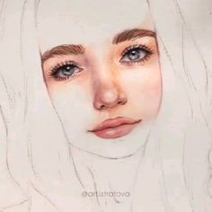 Watercolor Art Face, Watercolor Art Lessons, Watercolor Painting Techniques, Painting & Drawing, Watercolor Paintings, Watercolor Portrait Tutorial, Watercolor Portraits, Pencil Art Drawings, Art Drawings Sketches