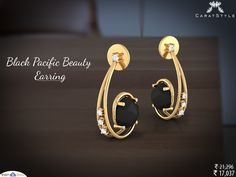The perfect black pacific beauty earring for the minimalist in you!   #gold #diamond #earring #style #stylis #fashionable #fashionstyle #exquisite #woman #trends #shopping #giftideas