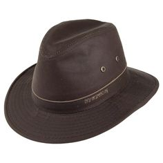 61dd7eb1be9 Stetson Hats Ava Water Repellent Safari Fedora - Brown