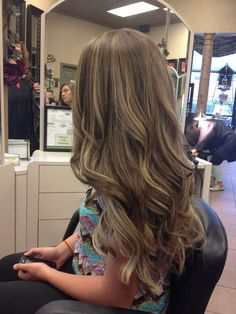 Ombré Baylage - love love this color. I wish my hair was this long so i could do that