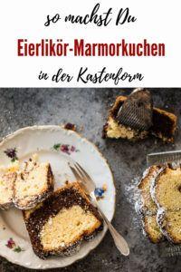Eierlikör-Marmorkuchen aus der Kastenform | Kochen macht glücklich French Toast, Breakfast, Blog, Cacao Powder, Chocolate, Marble Cake, Bakeware, Cooking, Simple