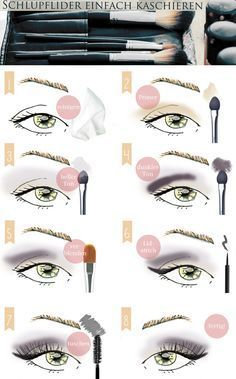 Make Up tutorial:  Schlupflider kaschieren - Augen größer schminken