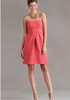 Discount Satin Strapless A-Line Short Bridesmaid Dress With Piping Trimmed Waistband Free Measurement