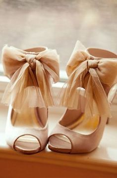 Heels with Chiffon Bow Straps-- Top 20 Shoes Ideas for Special Occassions.