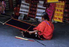 https://flic.kr/p/zxL5S | Triqui Weaver | a Triqui woman from Copala weaves at the market in Oaxaca City