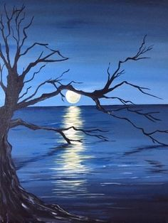 ideas for tree silhouette painting landscapes ideas for tree silhouette painting landscapes Easy Canvas Painting, Diy Painting, Canvas Art, Painting Trees, Silhouette Painting, Tree Silhouette, Chiaroscuro, Pictures To Paint, Art Pictures