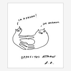 Opposites Attract Print, now featured on Fab.