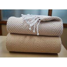 Affinity Linens Elegancia Cotton Chevron Throw Blanket Color: