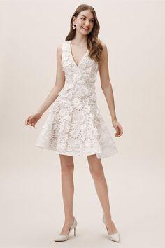 Melbourne Dress by BHLDN in White Size: Women's Dresses at Anthropologie Little white dresses Wedding Dress Sizes, Bridal Dresses, Wedding Gowns, Wedding Lace, Bridesmaid Dresses, Rehearsal Dinner Dresses, Little White Dresses, Casual Wedding, Jumpsuit Dress