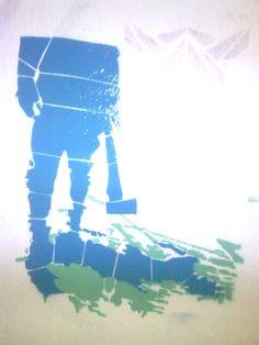 blue blood vs green blood art zek stencil street art serbia