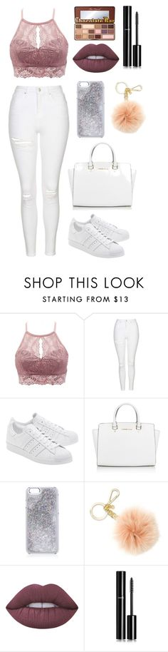 """""""Effortless effort"""" by tigerlily789 ❤ liked on Polyvore featuring Charlotte Russe, Topshop, adidas Originals, Michael Kors, Lime Crime, Chanel and Too Faced Cosmetics"""