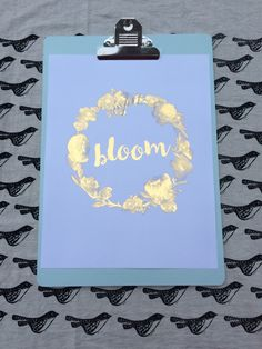 Bloom floral gold foil print by TradeandUnion on Etsy https://www.etsy.com/listing/261980804/bloom-floral-gold-foil-print