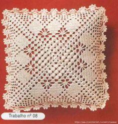 Delicadezas en crochet Gabriela: Cojín delicamente tejido muy sencillo de realizar