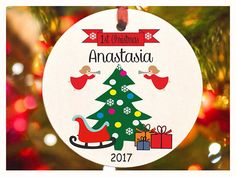 Baby's First Christmas ornament Personalized christmas