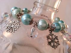 Beautiful Pearl Snowflake Bracelet  Winter by TrinkedOut on Etsy, $28.00