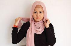 kacamatamia: Chiffon Shawl Hijab Tutorial #2