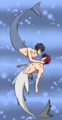 I've Found You by Fayolinn ... Iwatobi Swim Club, haruka nanase, rin matsuoka, rinharu, haru nanase, rin, haru, free!, iwatobi, matsuoka, nanase, merman