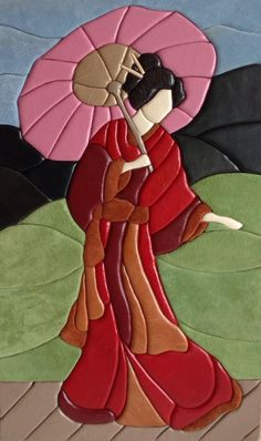 Udělejte to sami - nápady - května Glass Painting Patterns, Stained Glass Patterns Free, Glass Painting Designs, Stained Glass Designs, Paint Designs, Fabric Painting, Fabric Art, Painting On Wood, Japanese Quilt Patterns