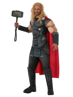 Adult Thor: Ragnarok Thor Costume Deluxe #Halloween #Costumes #coupons #costumesupercenter