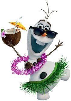 Olaf Hawaiian Frozen Transparent PNG Image