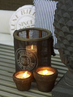 Lene Bjerre - SPRING 2013.  MILA lantern and WICKER candles.