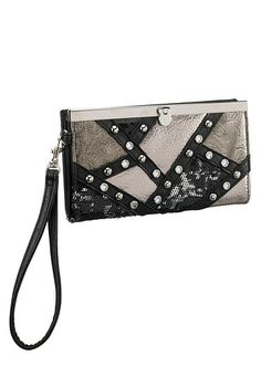 Patchwork Sequin Wristlet (original price, $12) available at #Maurices