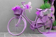 bicicleta morado Pastel.