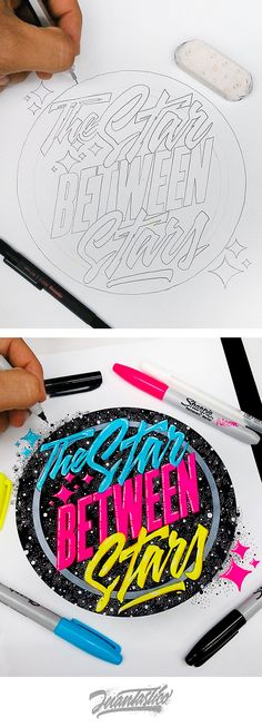 The stars between stars hand lettering - Typography Illustrations Vol.4 on Behance