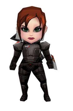 PaperJuke Others - Mass Effect: Chibi Commander Shepard
