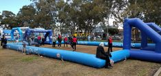 Inflatable soccer field for Melbourne City 15 x10m