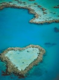 Aerial of Heart Reef, Great Barrier Reef