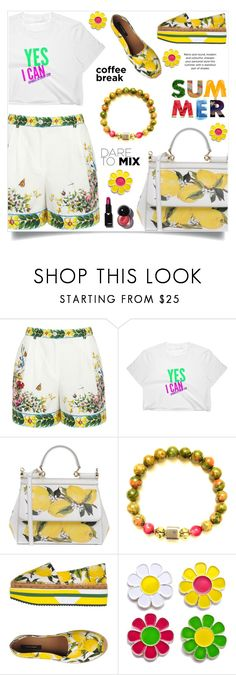 """""""Caffeine Fix: Coffee Break (26)"""" by samra-bv ❤ liked on Polyvore featuring Dolce&Gabbana and Laser Kitten"""