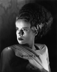 Cine-Bride of Frankenstein (dir. James Whale) - Elsa Lanchester as the Bride of the Monster and as Mary Shelley Classic Horror Movies, Horror Films, Horror Art, Horror Icons, Beetlejuice, Horror Vintage, Elsa Lanchester, James Whale, Horror Photos