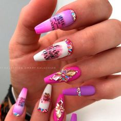 Lavender Coffin Nails With Rhinestones ❤ 35+ Magnificent Coffin Nails Designs You Must Try ❤ See more ideas on our blog!! #naildesignsjournal #nails #nailart #naildesigns #nailshapes #coffins #coffinnails #coffinnailshapes