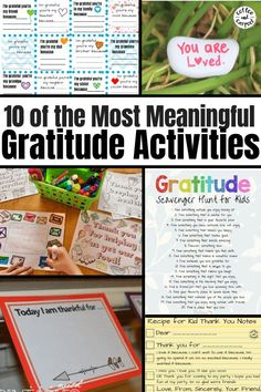 10 of the best and most meaningful year-round gratitude activities. A fun gratitude activity that you can do at home, these activities are fun and a good way to help your children learn to think about others, and how much they have to be thankful for. Kindness Activities, Kids Learning Activities, Teaching Kids, Teaching Kindness, Educational Activities, Summer Activities, Gentle Parenting, Parenting Advice, Parenting Toddlers