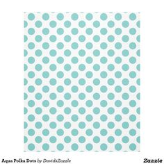 Aqua Polka Dots Fleece Blanket Available on many products! Hit the 'available on' tab near the product description to see them all! Thanks for looking!  @zazzle #art #polka #dots #shop #home #decor #bathroom #bedroom #bath #bed #duvet #cover #shower #curtain #pillow #case #apartment #decorate #accessory #accessories #fashion #style #women #men #shopping #buy #sale #gift #idea #fun #sweet #cool #neat #modern #chic #blue #aqua #light #dark #white