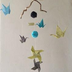 Mobile origami pour decoration chambre enfant