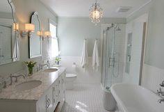 Bathroom Ideas. Bathroom Paint Color. Bathroom Paint Color is Sherwin Williams Sea Salt. Golden Boys and Me.