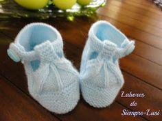 Labores de siempre: Variedad de Zapatos para bebé III Color Celeste, Baby Knitting, Lana, Baby Shoes, Kids, Clothes, Fashion, Shoes, Knitted Baby