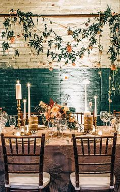 Warm setting for an autumn reception