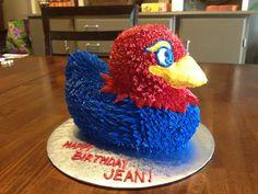 Kansas jayhawks cake by Karen's Kaykes