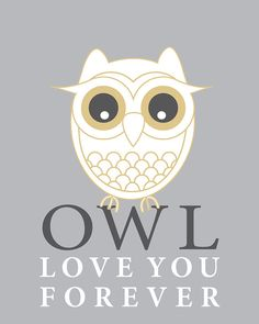 8x10 Owl Love You Forever Print