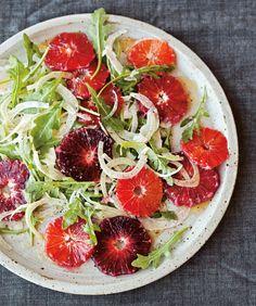 fennel salad with blood oranges + arugula
