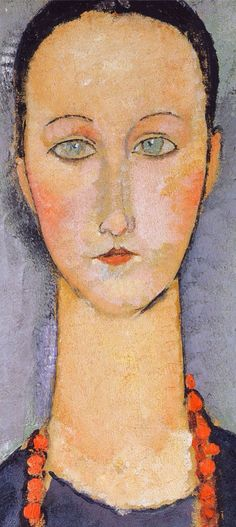 Modigliani -detail from Woman in Red