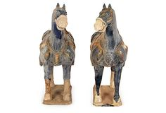 Blue Pottery Horses, Pair on OneKingsLane.com