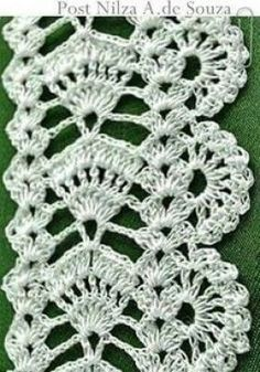 Crochet Toys - How to Change Yarn Colors While Knitting Crochet Boarders, Crochet Edging Patterns, Crochet Lace Edging, Crochet Diagram, Crochet Squares, Thread Crochet, Filet Crochet, Crochet Designs, Crochet Doilies