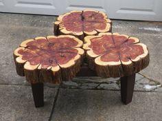 Cedar Slab Coffee Table via Etsy