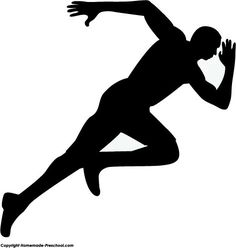 running silhouettes physical education pinterest silhouettes rh pinterest com track and field runners clipart track and field runners clipart